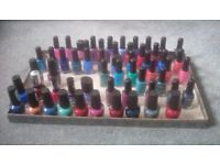 Nail polish, Kiko, W7, Rimmel and OPI. 55 assorted colours