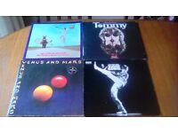 Rock vinyl joblot Lps + 45's