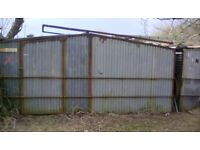 Garden shed large corrugated metal