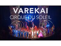 4X Tickets Cirque Du Soleil Varekai Leeds Saturday 25th February 2017 Face Value