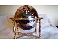 Large Brass and Marble Globe