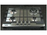 Zanussi ZGG62414XA 58cm Gas Hob - Stainless Steel