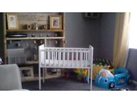 white crib from mothercare