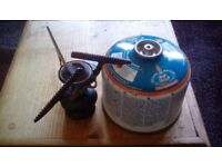 Camping stove with gas