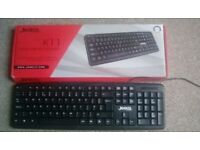 Computer Keyboard, Brand New, Still on Box. QWERTY.