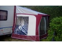 Bradcot porch Awning 7ft x 6ft 3in Burgundy and Grey