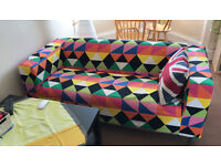 Colorful sofa in perfect condition