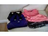 Gym tops/vests Rebok, Addidas etc. Size10/12 As new.