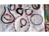 Semi precious costume jewellery mostly smokey quartz. Exellent condtion