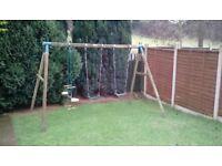 Large garden swing etc,good condition.