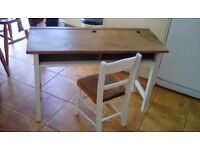 1940's junior school twin desk and chair