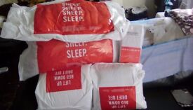Single duvet plus fitted sheets and pillows
