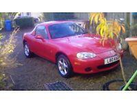 Mazda mx5 2001--convertible--66,000 miles,1 years mot in ayrshire.1400 ono