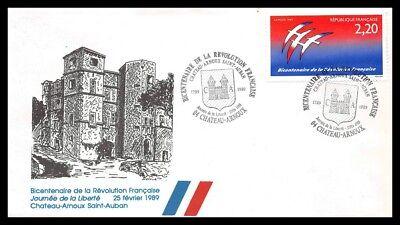 Frankreich (chateai arnoux Saint Auban) 1989 - FDC - Umschlag Premier Tag
