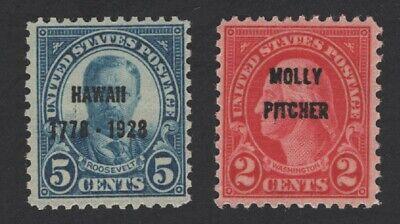 United States MINT Scott Number 646 & 648 VF MNH  - BARNEYS
