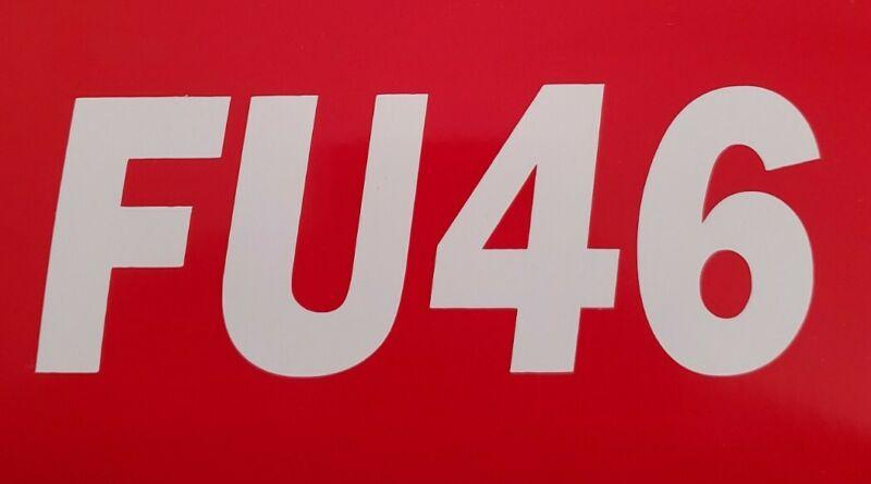 FU46 ANTI BIDEN - Bumper Sticker Decal PRO TRUMP