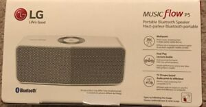 LG Electronics Music Flow P5 Portable Bluetooth Speaker White