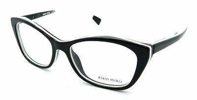 Alain Mikli Rx Eyeglasses Frames A03060 004 54-16-140 Black White Made in (Glasses Black And White)