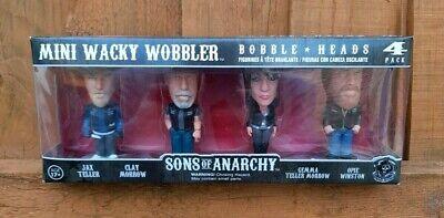 FUNKO SONS OF ANARCHY MINI WACKY WOBBLER BOBBLE HEADS 4 FIGURE PACK...