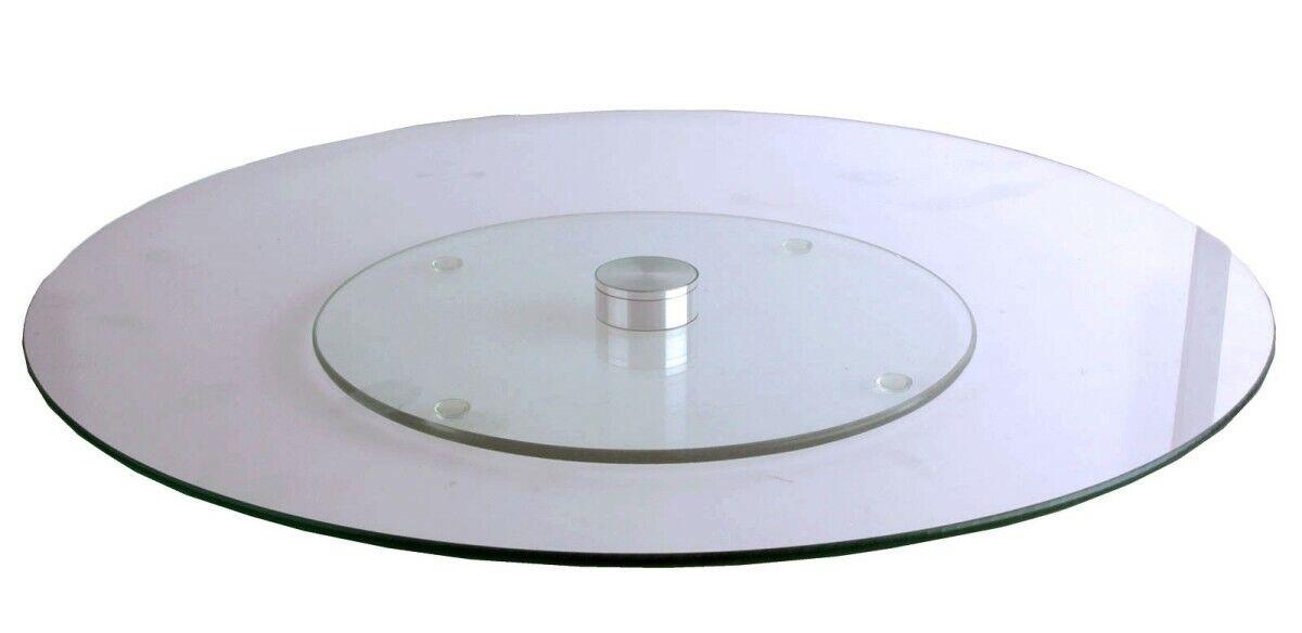Servierplatte Drehteller aus Glas Lazy Susan 30 cm Turntable Käseplatte