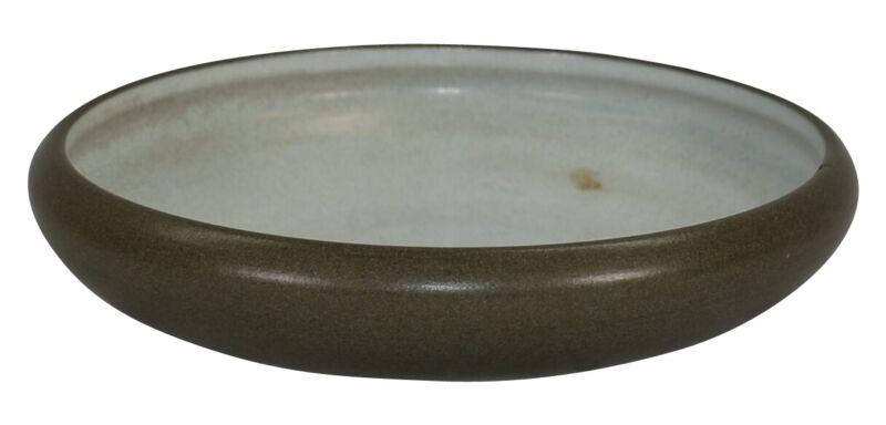 Marblehead Pottery Mottled Matte Green Ribbed Bowl Shape 55