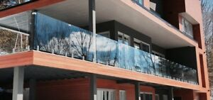 10% off March special exterior Glass railings