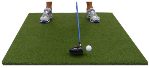 "Backyard Golf Mat 33"" x 60"" Pro Residential Practice Golf Turf Mat With Foam Pad"