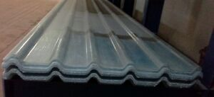 Coverworld 32/1000 (MW5R) profile GRP roof sheets. 3m Long