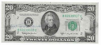 20 1950 D With Granahan Courtesy Autograph  Extremely  Fine