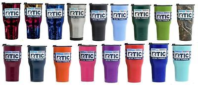 RTIC 20oz 30oz Stainless Steel Tumbler 2018 model with 2018 spill proof lid](Tumblers With Lids)