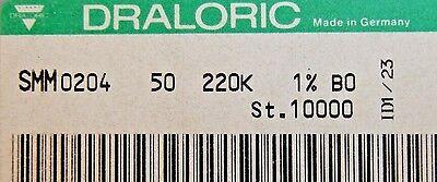 1000pcs Resistor 220k Ohm Minimelf 50ppm 1 0.4w Smm020450bo 220k Draloric
