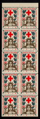 1918-2 Christmas Seals Booklet Pane MNH