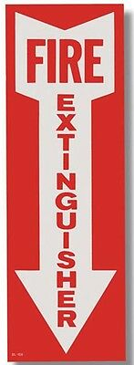 Fire Extinguisher Arrow 4x12 Sign Self Adhesive Vinyl 1 Sign