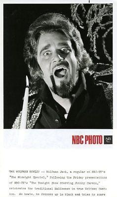 WOLFMAN JACK HALLOWEEN MIDNIGHT SPECIAL NBC TV PHOTO