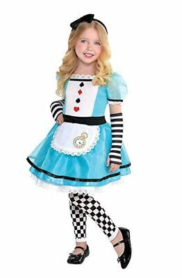 Wonderful Alice Costume for Girls, Toddler Sized 3-4 - Girls Wonderful Alice Costume
