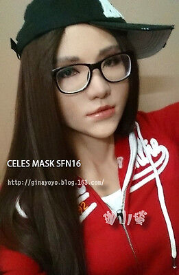 Silicone rubber female mask ultra-realistic  (SF-N16/17)