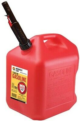 Midwest Can Co 5610 5 Gallon Gas Can W Flameshield Shut Off Spout