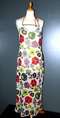 Dior robe  dress voile resille lien medaillons siglé dos nu  t 36/38