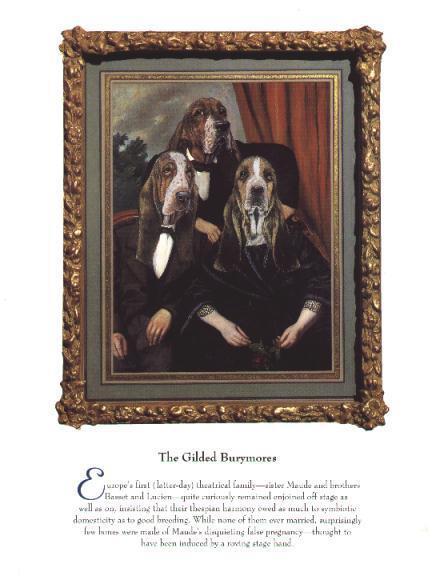 Three Basset Hound - Vintage Dog Art Print - Poncelet