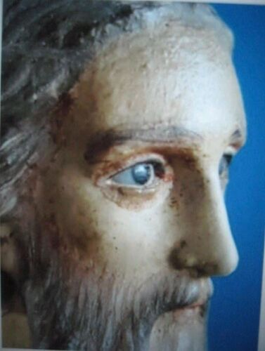 Estate Find: Antique hand-carved Saint Albert the Great, glass eyes