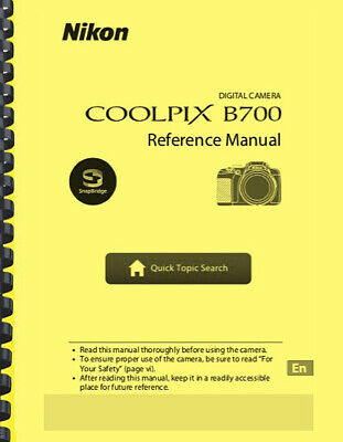 Nikon Coolpix B700 Digital Camera USER'S REFERENCE MANUAL