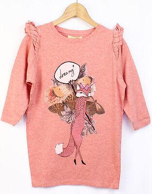 Soft Gallery Dreamy Fox Pink Girls' Dress Size 6y