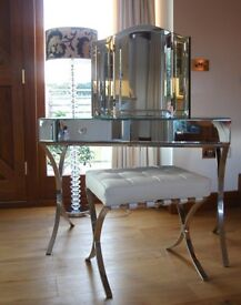 new assembled Sovana Mirrored Console/Dressing Table rrp £799 BARGAIN
