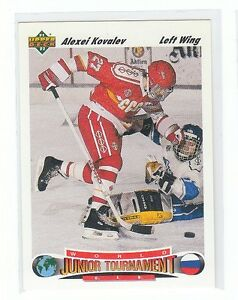 ALEXEI KOVALEV .... ONLY ROOKIE CARD ... 1991-92 Upper Deck High