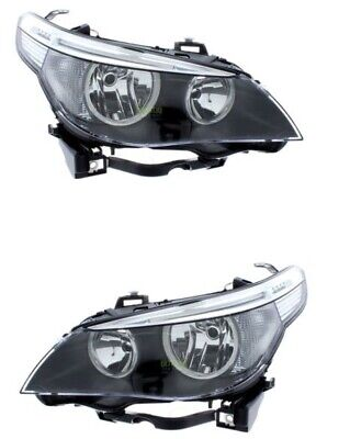 BMW 5 SERIES 2003-2007 E60 E61 HEADLIGHT HEADLAMP  PAIR SET O/S N/S RIGHT LEFT for sale  Shipping to Ireland
