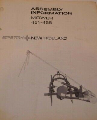 Sperry New Holland Operators Manual Mowers 451-456 Reprinted