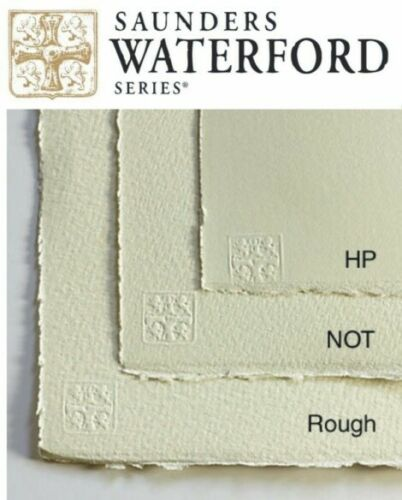 """Saunders Waterford Watercolor paper 4 x 1/4 sheets(11""""x15"""") 100% cotton 300 gsm"""