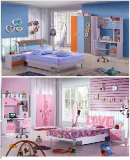 barand new kids bedroom set2 colors available pink or blue&orange Casula Liverpool Area Preview