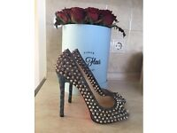 100% authentic Christian Louboutin spiked limited Edition heels Size 38 LV D&G Gucci LV