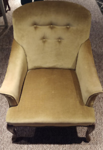 Green padded armchairs $40 each, $70 for both. OBO
